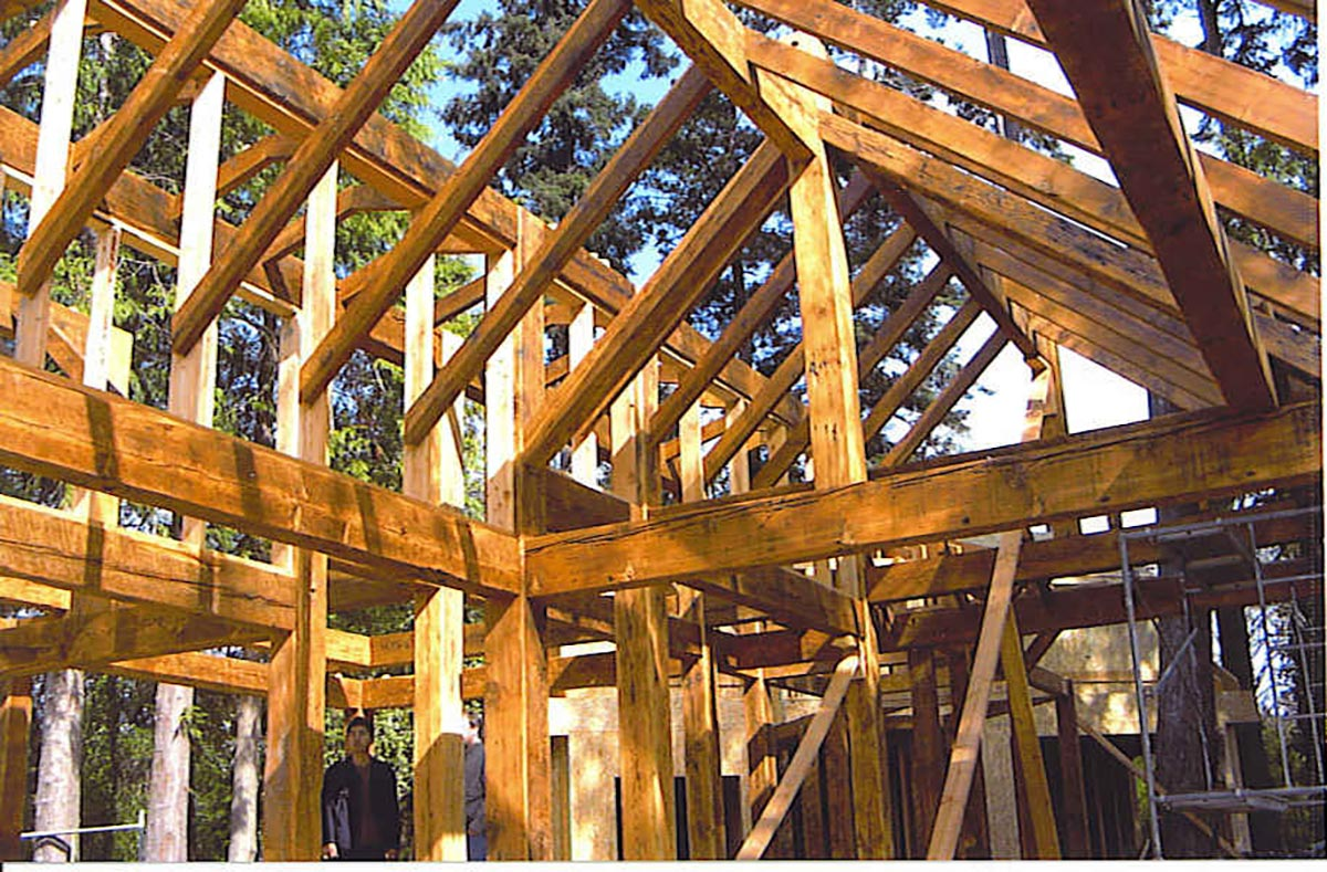 Timber galleries bellingham bay builders for Timber frame bridge