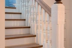 yellow cedar remodel stair