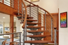 Brick beach house stairwell