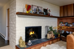 south hill comtemporary fireplace
