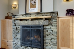 south hill contemporary fireplace
