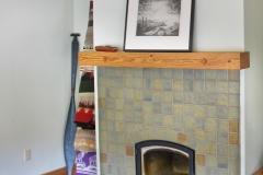 lake samish rustic cabin fireplace