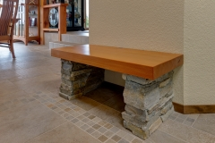 edgemoor modern timber remodel bench