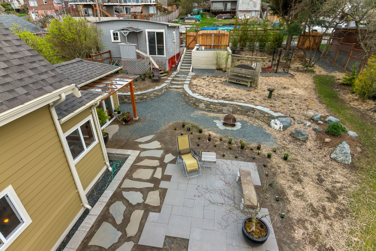 south hill craftsman remodel hardscaping